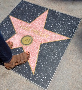 Elvis' star on the Hollywood Walk of Fame